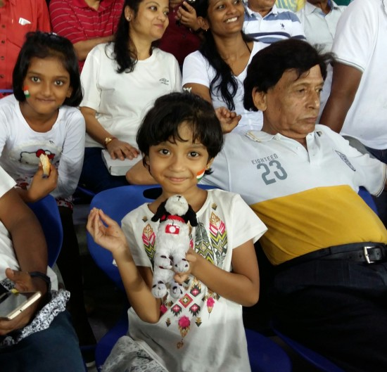 Foto is Diplomat at Soccer Match in India